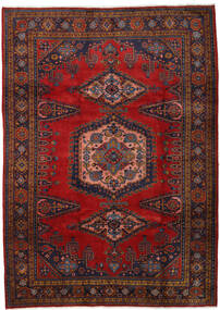 Wiss Rug 212X310 Authentic  Oriental Handknotted Dark Red/Dark Brown/Rust Red (Wool, Persia/Iran)