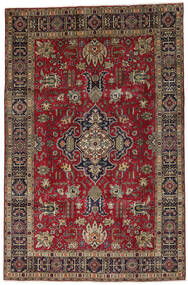 Tabriz Rug 198X304 Authentic  Oriental Handknotted Dark Red/Light Brown (Wool, Persia/Iran)