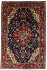 Tabriz Rug 196X294 Authentic  Oriental Handknotted Black/Dark Red (Wool, Persia/Iran)