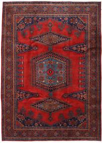 ウィス 絨毯 220X307 オリエンタル 手織り 深紅色の/黒 (ウール, ペルシャ/イラン)