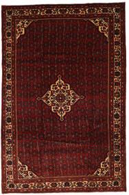 Hosseinabad Teppe 204X310 Ekte Orientalsk Håndknyttet Mørk Rød (Ull, Persia/Iran)