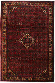 Hosseinabad Rug 211X336 Authentic Oriental Handknotted Dark Red (Wool, Persia/Iran)