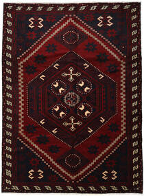 Lori Rug 220X300 Authentic  Oriental Handknotted Dark Red (Wool, Persia/Iran)