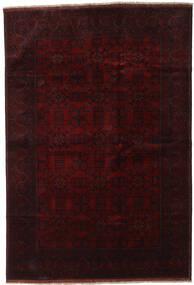 アフガン Khal Mohammadi 絨毯 198X290 オリエンタル 手織り 濃い茶色/深紅色の (ウール, アフガニスタン)