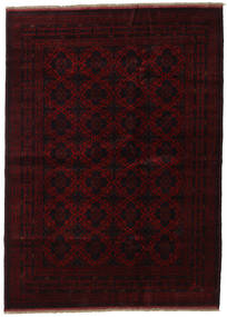 Afghan Khal Mohammadi Rug 205X282 Authentic  Oriental Handknotted Dark Brown/Dark Red (Wool, Afghanistan)