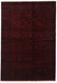 アフガン Khal Mohammadi 絨毯 199X286 オリエンタル 手織り 深紅色の (ウール, アフガニスタン)
