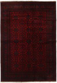 Afgan Khal Mohammadi Dywan 203X291 Orientalny Tkany Ręcznie Ciemnobrązowy/Ciemnoczerwony (Wełna, Afganistan)