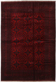 Afghan Khal Mohammadi Rug 206X296 Authentic  Oriental Handknotted Dark Brown/Dark Red (Wool, Afghanistan)