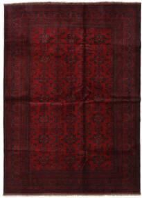 Afghan Khal Mohammadi Tapis 209X286 D'orient Fait Main Rouge Foncé (Laine, Afghanistan)