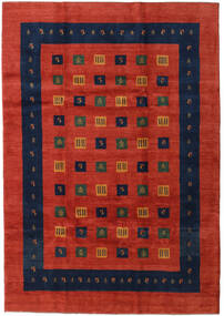 Gabbeh Persia Rug 203X292 Authentic  Modern Handknotted Rust Red/Dark Blue (Wool, Persia/Iran)
