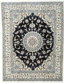 Nain Alfombra 200X245 Oriental Hecha A Mano Beige/Negro (Lana, Persia/Irán)