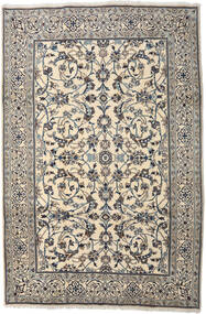 Nain Rug 200X300 Authentic  Oriental Handknotted Light Grey/Beige (Wool, Persia/Iran)