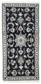 Nain Rug 66X142 Authentic Oriental Handknotted Dark Blue/Light Grey (Wool, Persia/Iran)