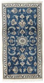 Nain Matta 70X132 Äkta Orientalisk Handknuten Mörkblå/Ljusgrå (Ull, Persien/Iran)