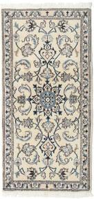 Nain Matta 69X139 Äkta Orientalisk Handknuten Beige/Ljusgrå (Ull, Persien/Iran)