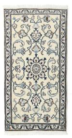 Nain Matto 70X138 Itämainen Käsinsolmittu Beige/Vaaleanharmaa (Villa, Persia/Iran)