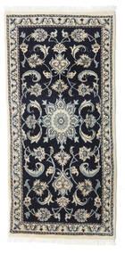 Nain Matta 67X139 Äkta Orientalisk Handknuten Svart/Ljusgrå/Mörkgrå (Ull, Persien/Iran)