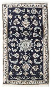 Nain Dywan 72X129 Orientalny Tkany Ręcznie Ciemnofioletowy/Jasnoszary (Wełna, Persja/Iran)