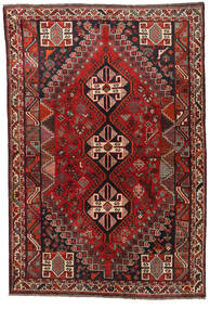 Shiraz Matta 165X241 Äkta Orientalisk Handknuten Mörkröd/Svart (Ull, Persien/Iran)