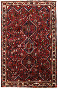 Shiraz Rug 163X251 Authentic  Oriental Handknotted Dark Red/Black (Wool, Persia/Iran)