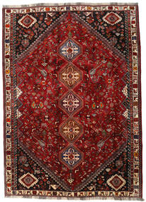 Qashqai Rug 188X260 Authentic  Oriental Handknotted Dark Red/Dark Brown (Wool, Persia/Iran)