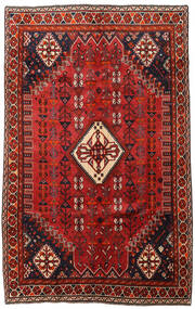 Kaszkaj Dywan 163X262 Orientalny Tkany Ręcznie Ciemnoczerwony/Czarny (Wełna, Persja/Iran)