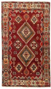 Qashqai Szőnyeg 146X254 Keleti Csomózású Sötétpiros (Gyapjú, Perzsia/Irán)