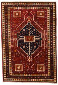 Qashqai Szőnyeg 166X242 Keleti Csomózású Sötétpiros/Sötétbarna (Gyapjú, Perzsia/Irán)