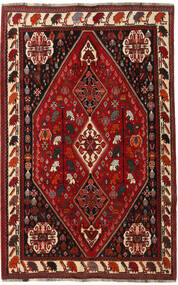 Ghashghai Matto 166X260 Itämainen Käsinsolmittu Tummanpunainen/Tummanruskea (Villa, Persia/Iran)