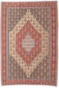 Kelim Senneh Tæppe 202X298 Ægte Orientalsk Håndvævet Beige/Brun (Uld, Persien/Iran)