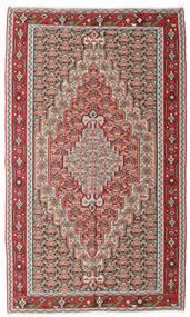 Kelim Senneh Tæppe 150X251 Ægte Orientalsk Håndvævet Lysegrå/Brun (Uld, Persien/Iran)