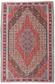 Kelim Senneh Tæppe 169X257 Ægte Orientalsk Håndvævet Lysegrå/Brun (Uld, Persien/Iran)