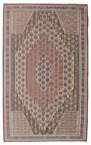 Kelim Senneh Tæppe 148X237 Ægte Orientalsk Håndvævet Lysegrå/Lysebrun (Uld, Persien/Iran)