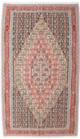 Kelim Senneh Vloerkleed 150X267 Echt Oosters Handgeweven Lichtgrijs/Donkerrood (Wol, Perzië/Iran)