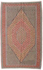 Kilim Senneh Rug 152X245 Authentic  Oriental Handwoven Light Grey/Dark Red (Wool, Persia/Iran)