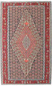 Kilim Senneh Dywan 150X248 Orientalny Tkany Ręcznie Jasnoszary/Ciemnoszary (Wełna, Persja/Iran)