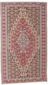 Kelim Senneh Matto 142X259 Itämainen Käsinkudottu Vaaleanharmaa/Tummanharmaa (Villa, Persia/Iran)