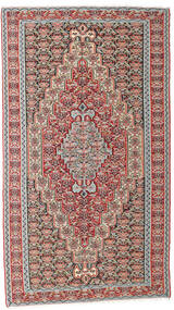 Kilim Senneh Rug 142X259 Authentic  Oriental Handwoven Light Grey/Dark Grey (Wool, Persia/Iran)
