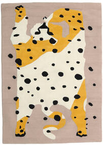 The Spotty Cat - Beige/Multi Vloerkleed 100X160 Modern Lichtgrijs/Beige (Wol, India)