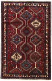 Yalameh Rug 153X237 Authentic  Oriental Handknotted Dark Red (Wool, Persia/Iran)