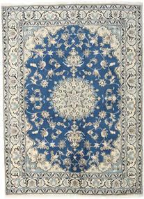 Nain Rug 170X230 Authentic  Oriental Handknotted Beige/Dark Blue (Wool, Persia/Iran)