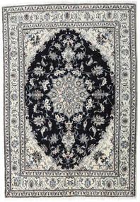Nain Tappeto 164X236 Orientale Fatto A Mano Grigio Chiaro/Nero (Lana, Persia/Iran)