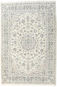 Nain Rug 198X292 Authentic  Oriental Handknotted Light Grey/Beige/Dark Beige (Wool, Persia/Iran)