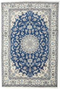 Nain Dywan 200X293 Orientalny Tkany Ręcznie Jasnoszary/Beżowy/Ciemnoniebieski (Wełna, Persja/Iran)