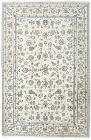 Nain Rug 198X301 Authentic  Oriental Handknotted Beige/Light Grey (Wool, Persia/Iran)