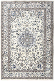 Nain Rug 201X296 Authentic  Oriental Handknotted Light Grey/Dark Grey/Beige (Wool, Persia/Iran)