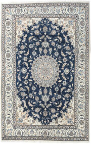 Nain Teppe 194X300 Ekte Orientalsk Håndknyttet Lys Grå/Mørk Blå (Ull, Persia/Iran)