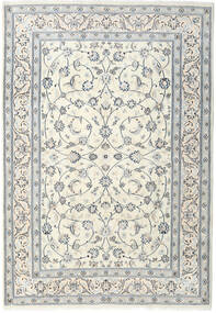 Nain Rug 200X291 Authentic  Oriental Handknotted Light Grey/Beige (Wool, Persia/Iran)