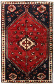 Qashqai Rug 161X251 Authentic  Oriental Handknotted Dark Red/Rust Red (Wool, Persia/Iran)