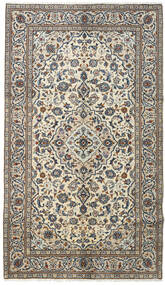 Keshan Rug 145X253 Authentic  Oriental Handknotted Dark Grey/Light Grey (Wool, Persia/Iran)